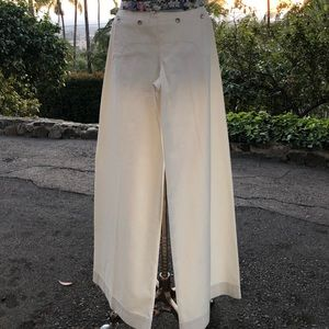 Ralph Lauren Pants - Ralph Lauren Pants Off White wide leg 100% Cotton